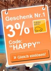 Geschenk Nr. 1 - 3% - Code: HAPPY - Gleich einlösen!